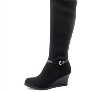 LAUREN Ralph Lauren Tula Knee High Wedge Boots 6B